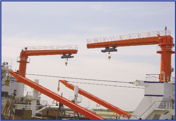 Marine Electric jib crane