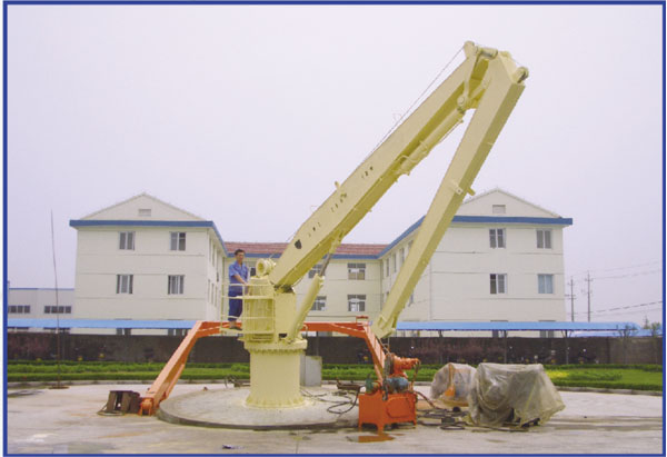 Marine Hydraulic folding crane