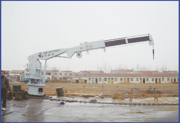 Marine Hydraulic knuckle telescopic crane