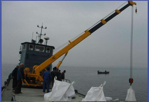 Marine Hydraulic telescopic crane